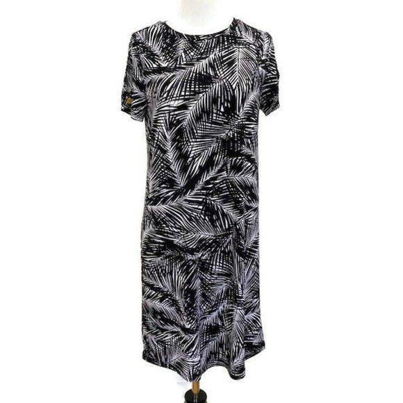 NEW MICHAEL MICHAEL KORS Palm Print Dress XS